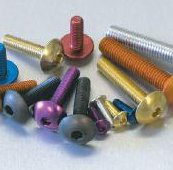 anodised nuts and bolts